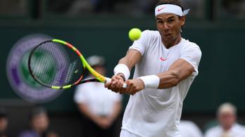 Nadal túl lassan cserélt pólót, figyelmeztették Wimbledonban