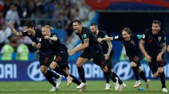 Horvátország 11-esekkel verte ki az oroszokat 2-2-es 120 perc után