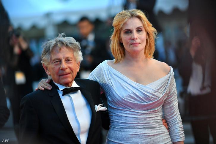 Roman Polanski és Emmanuelle Seigner egy 2017-es fotón Cannes-ban