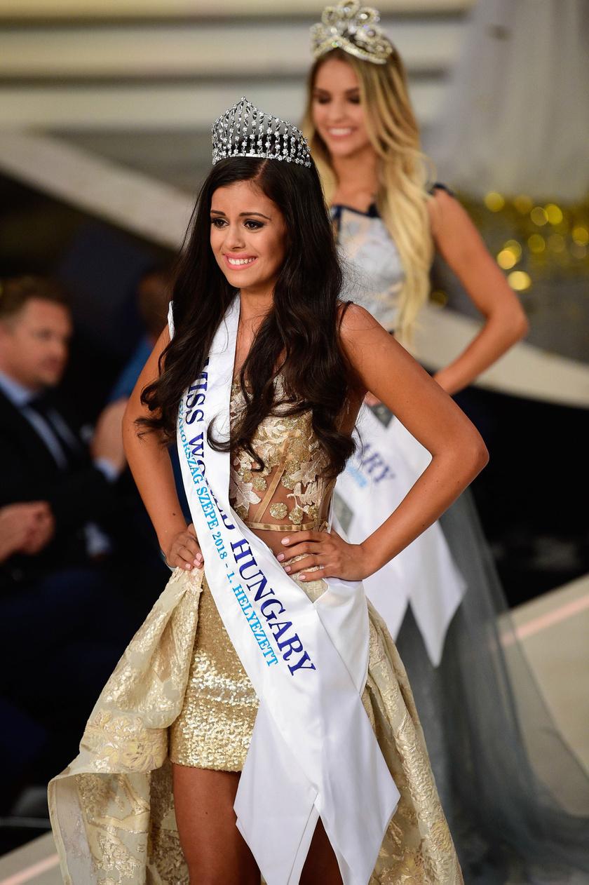 A Magyarország Szépe - Miss World Hungary szépségverseny idei győztese, Szarvas Andrea.