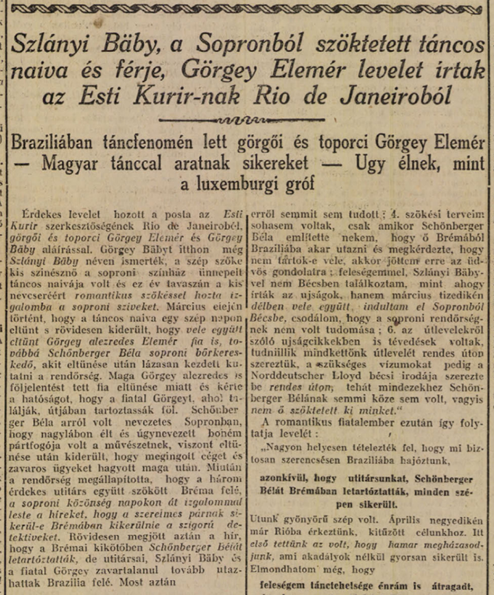 Esti Kurír 1925. július 1. 10. o.