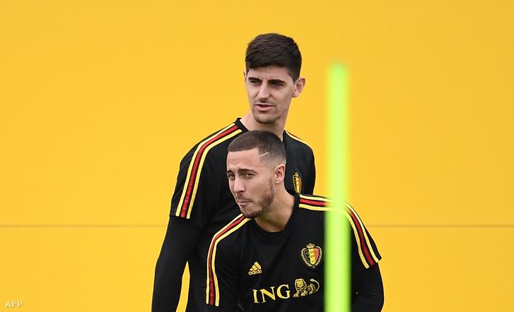 Pfaff utódja, Courtois és Eden Hazard a belgák edzésén