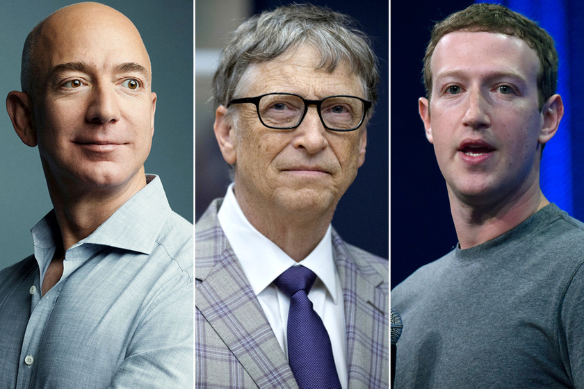 Jeff Bezos, Bill Gates és Mark Zuckerberg