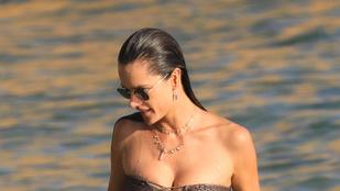 Alessandra Ambrosio mennyire átlagos nő a strandon?