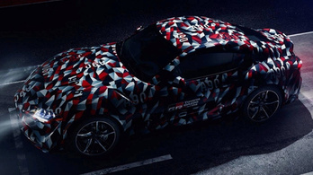 Itt már egész jól látszik az új Toyota Supra