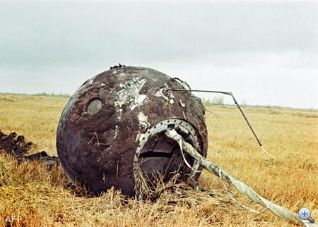A leszállóegység 700 kilométerre Moszkvától ért földet.