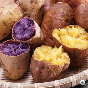 A legfinomabb lila húsú, és a tipikus sárga