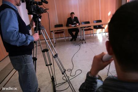 Steindl Balázs sajtótájékoztatója (Fotó: Nagy Attila)