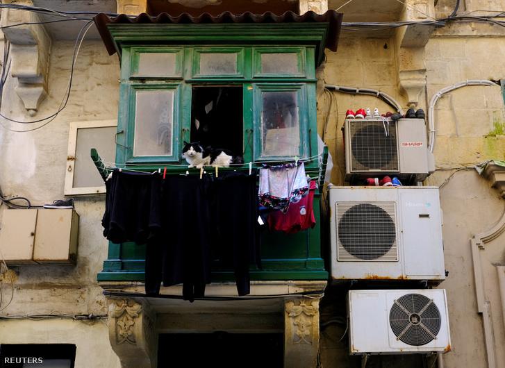 Balkonmacska fregolival és légkondiszettel Máltán