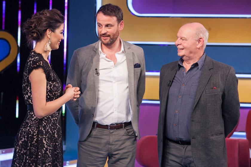 Ördög Nóra, Nánási Pál és annak édesapja a TV2 Vigyázat, szülővel vagyok! című műsorában idén áprilisban.