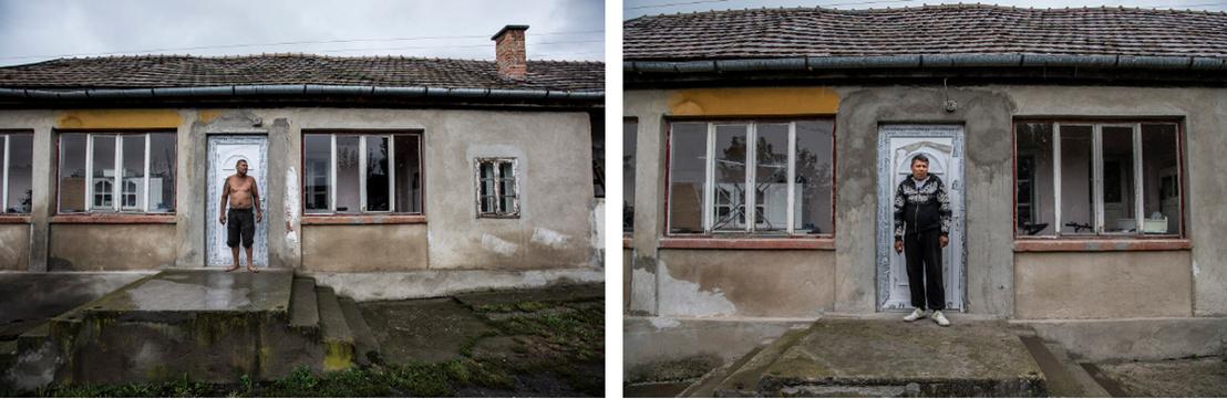 Életkép Mátraverebélyen ugyanott 2016-ban és 2018-ban. A 2016-ban kicserélt ajtón még mindig ott van a védőfólia