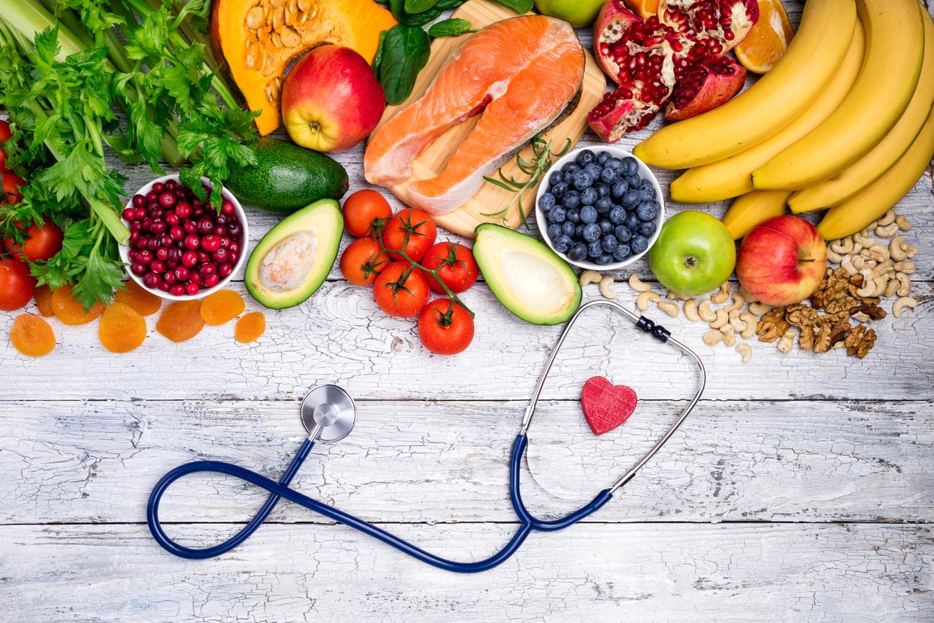 egészség gyümölcs zöldség szív