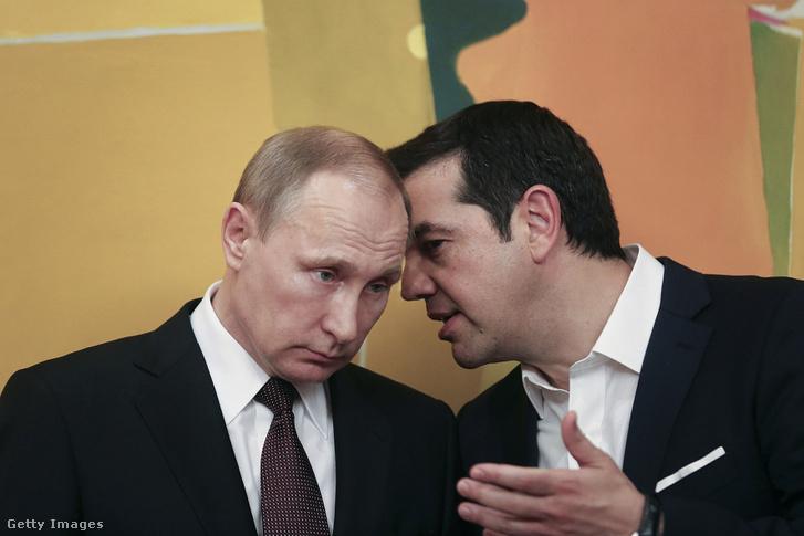Vlagyimir Putyin és Alekszisz Ciprasz