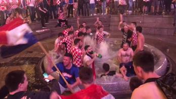 Horvátországban elszabadult az örömünnep a lefújás után