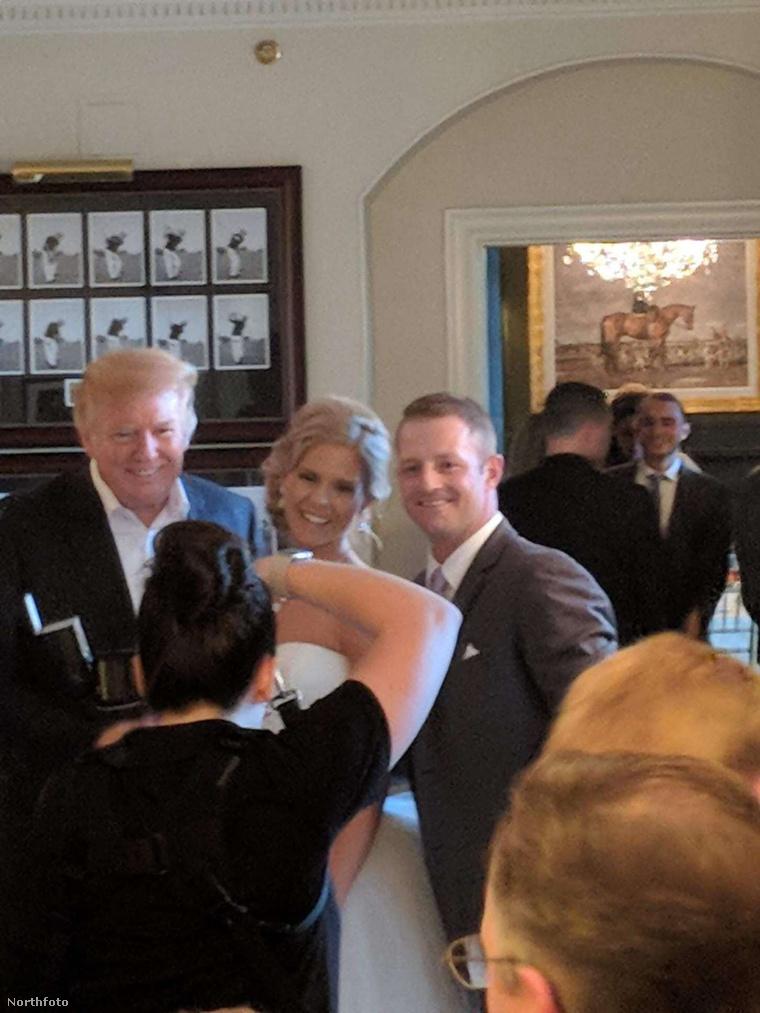 Esküvői fényképezkedés Donald Trumppal!