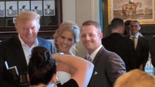 Beállított Donald Trump az esküvőjükre, nem bánták