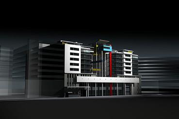 Hotel terve a városközpontban