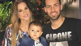 Reklámfilmbe illő életet él Sergio Busquets és felesége