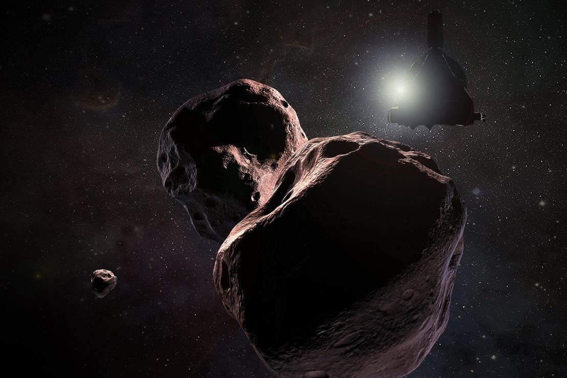 Művészi elképzelés arról, hogyan halad a New Horizons az új célja felé