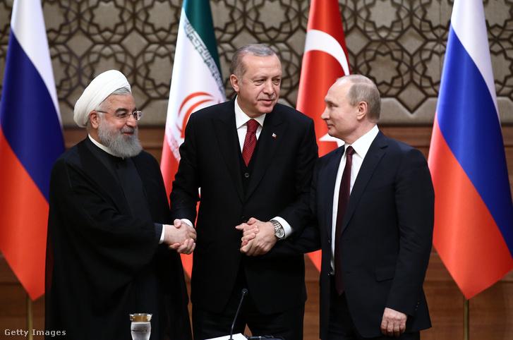 Iráni-török-orosz vezetői találkozó Ankarában, 2018. április 4-én