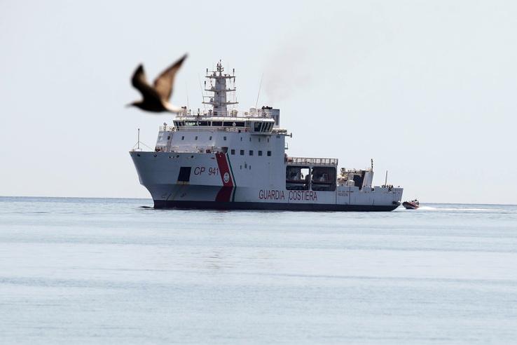 A Diciotti Trapani kikötőjébe érkezett.