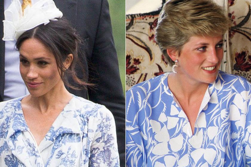 Meghan hercegné lemásolta Diana stílusát - Kísértetiesen hasonló az ízlésük