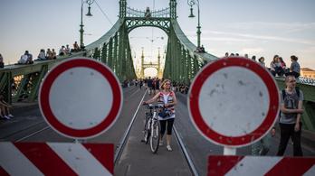 A hétvégén lezárják a járművek elől a Szabadság hidat