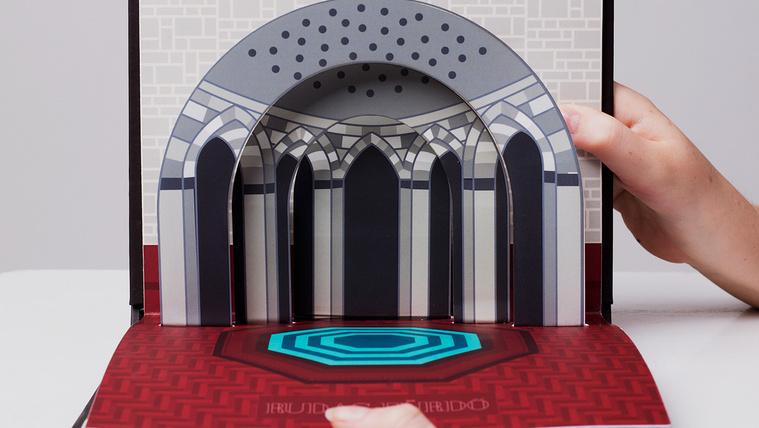 Gyönyörű pop-up könyv a budapesti fürdőkről