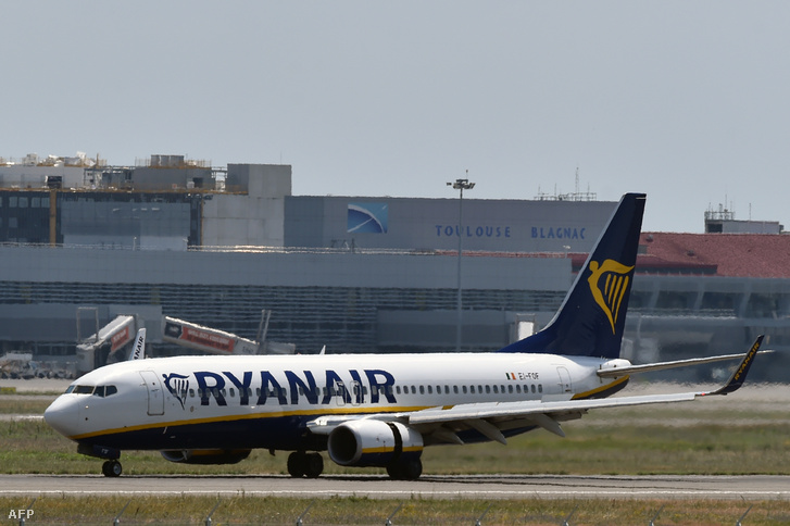A Ryanair egyik Boeing 737-ese pár nappal ezelőtt, Franciaországban