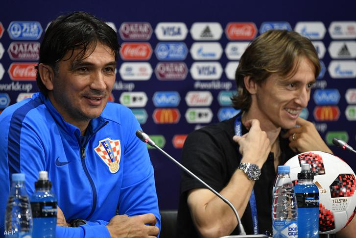 latko Dalic és Luka Modric