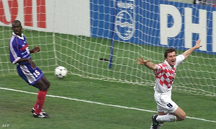 Davor Suuker gólja a francia-horvát meccsen 1998-ban
