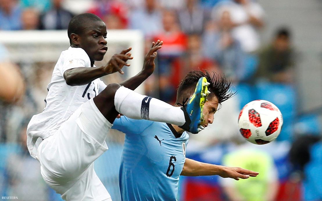 N'Golo Kanté az Uruguay elleni meccsen