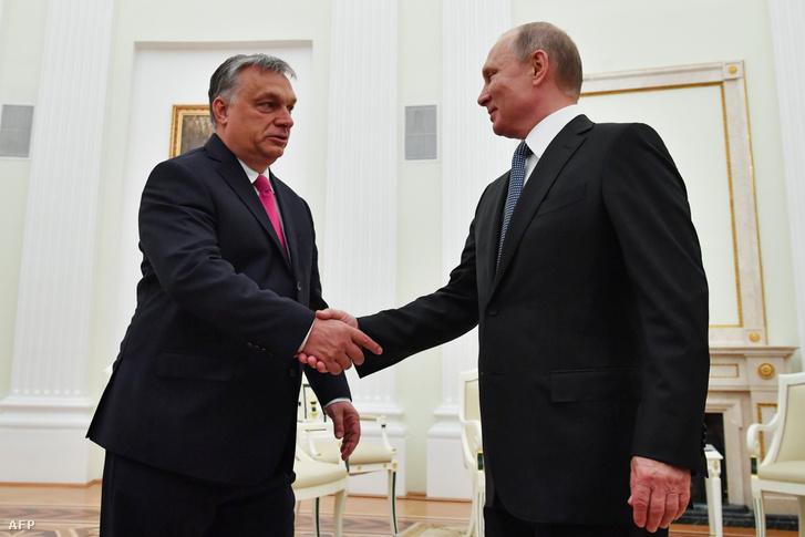 Orbán Viktor és Vlagyimir Putyin Moszkvában