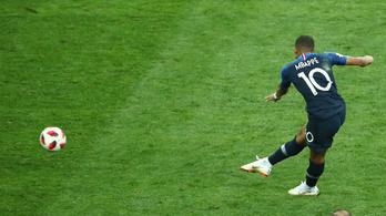 A 19 éves Mbappé bombagóllal érte be Pelét a vb-döntőben