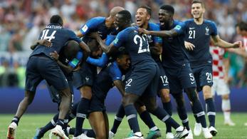 Franciaország világbajnok: 4-2 a döntőben a horvátok ellen