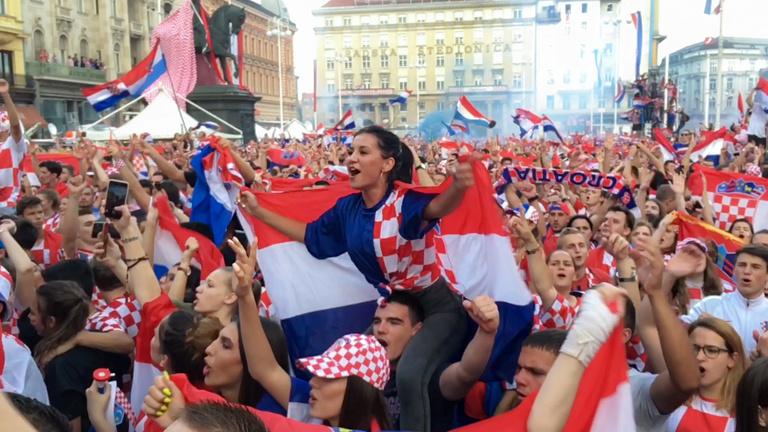 Kitört a horvát örömünnep