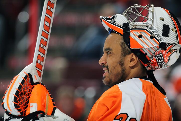 Ray Emery a Philadelphia Flyers játékosaként 2015-ben