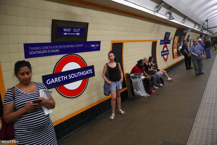 Most néhány napig biztosan Gareth Southgate lesz a Southgate megálló