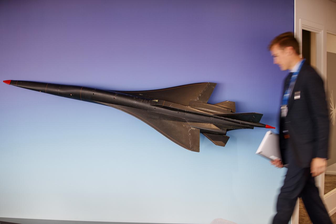 A Boom Supersonic XB-1 szélcsatorna modellje. Az amerika startup a hangsebesség kétszeresével repülő szuperszonikus utasszállító kifejlesztésén dolgozik, ha minden jól megy egy 1:3 arányú modell jövőre repülni is fog.