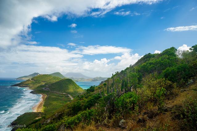 Kilátás a Karib-tengerre.