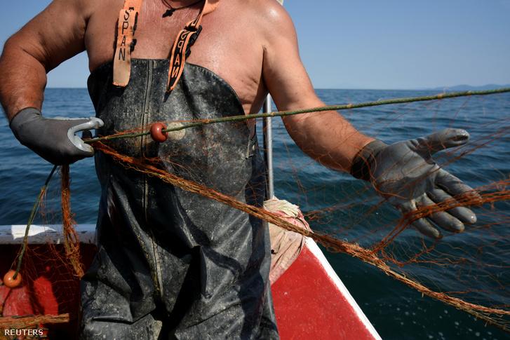 Dimitrisz Karapetsasz utolsó munkanapján a tengeren, Panajotisz Pagonisz hajóján.