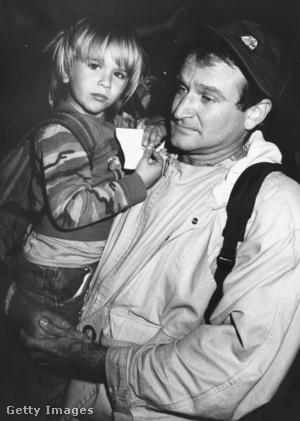 Zachary és Robin Williams 1987