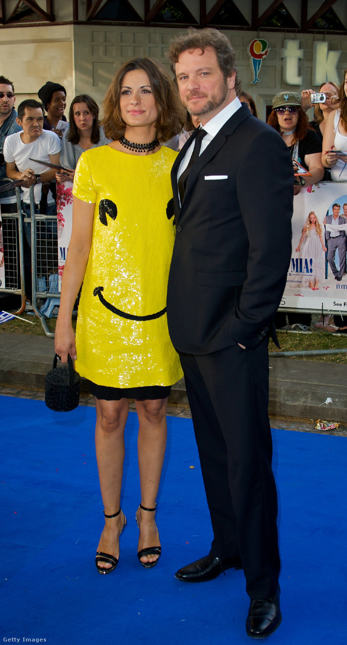 Colin Firth szintén ugyanazzal a nővel volt a 2008-as bemutatón...