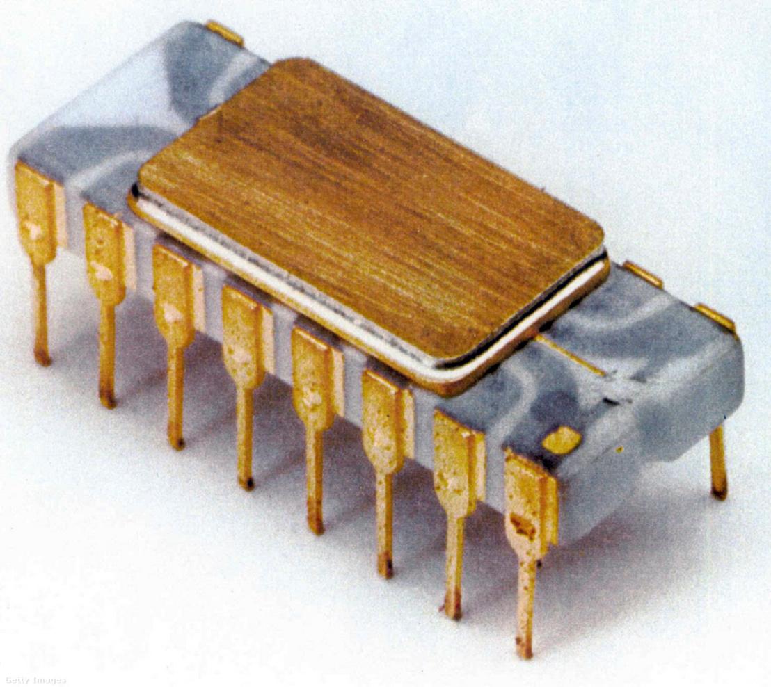 A világ első működőképes mikroprocesszora az Intel 4004