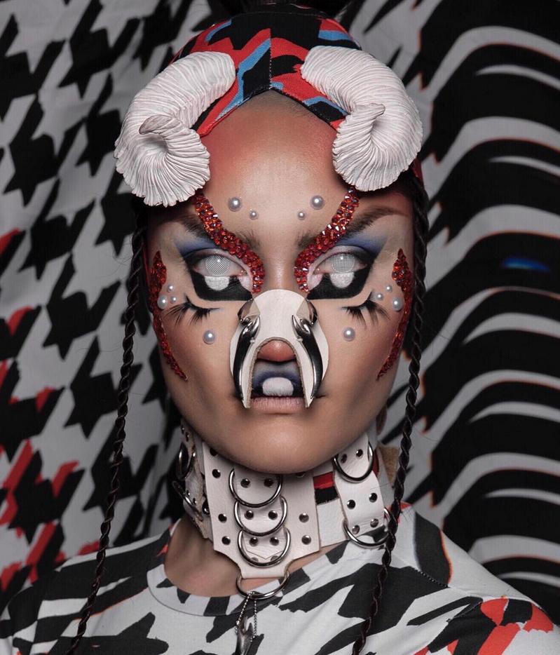 Ezen a képen egy Hungry néven ismert német művész látható, ővele együtt készítette el Björk az Utopia albumhoz kapcsolódó látványvilágot.