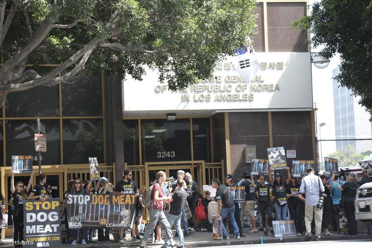 A napokban volt egy kisebb tüntetés Los Angelesben.