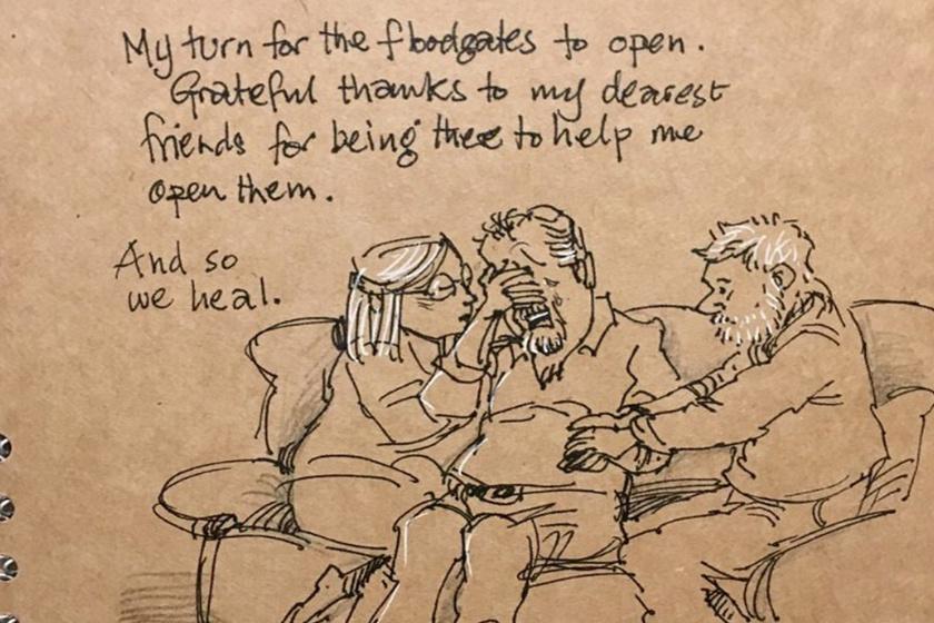 """""""Ezúttal rajtam a sor, hogy kinyissam a csapot. Hálás vagyok a barátaimért, akik itt vannak velem, és segítenek. Megnyílni és gyógyulni."""""""