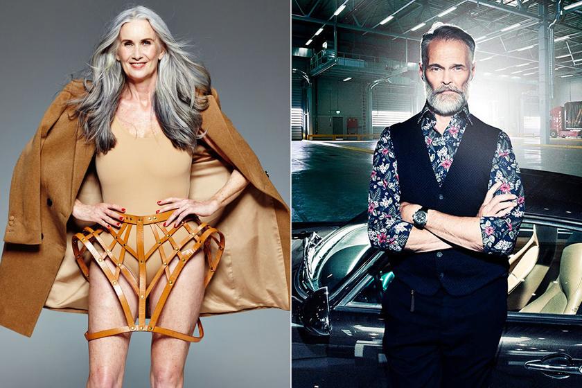 50 felett kezdtek el modellkedni, azonnal berobbantak a szakmába