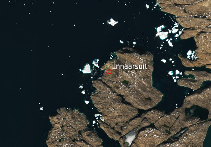 43a5a56957 Index - Tudomány - Az űrből is látszik a grönlandi falura ráijesztő ...