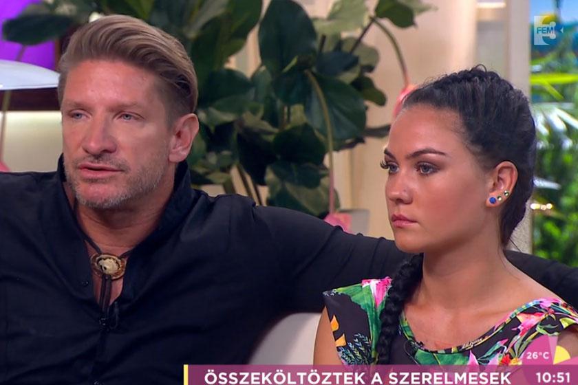 Pintér Tibor és szerelme, Friderika között 23 év a korkülönbség. A fiatal lány idén érettségizett.